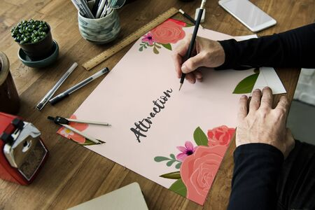 stationery needs: Love Fondness Flower Boarder Card Concept