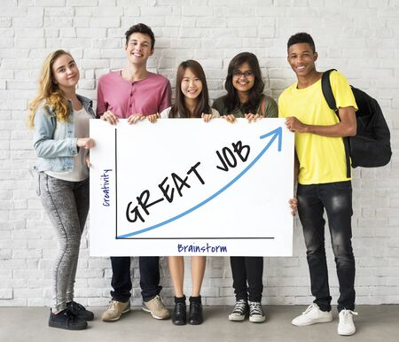 Gran trabajo de la solución de empleo motivación de las finanzas Foto de archivo - 80030059