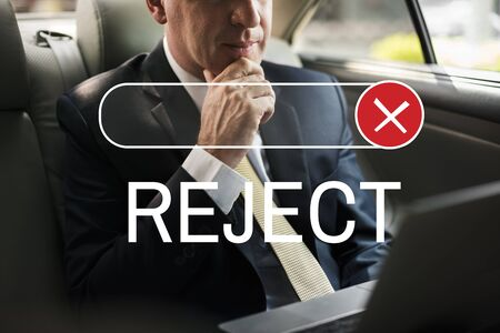 banned: Banned Declined Reject Deny Graphic