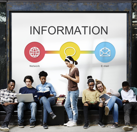 People with information concept Banco de Imagens - 113429750