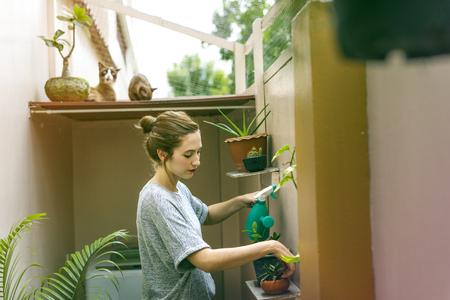 Woman Holiday Houseplant Gardener