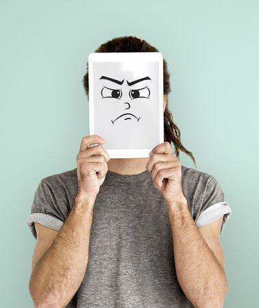 Gezicht Expressie Emotionele mensen Concept