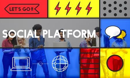 Social Platform Network Communication Concept Stock Photo