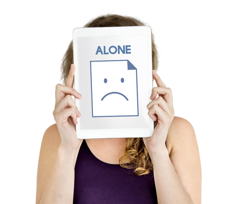 落ち込んで一人で悲しみ否定的な不幸な感情