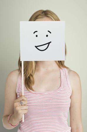 Dibujo Expresiones faciales Emociones Sentimientos Foto de archivo - 79901322