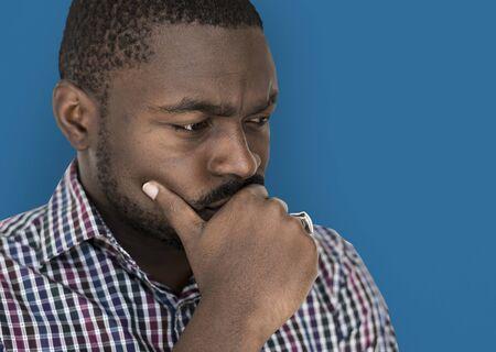 African descent man is feeling nervous