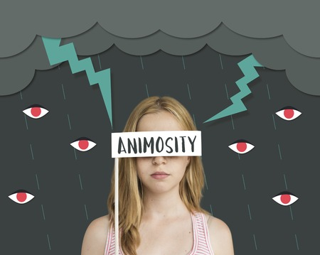 Hatred Frustration Ignorance Animosity Concept Stock Photo - 79901902