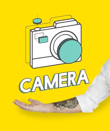Digital camera illustration photography graphic Stock Photo