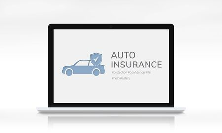 Car Insurance Coverage Accident Benefits Zdjęcie Seryjne - 80178532