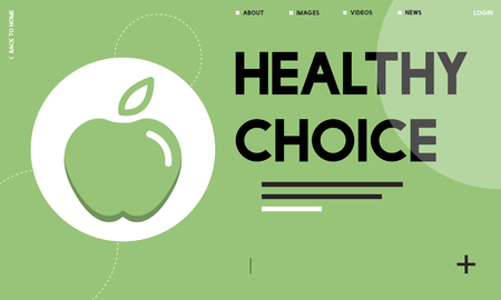 Webpage interface with healthy choice concept