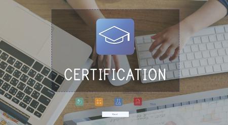 Illustration of literacy academics education mortar board Stock Photo