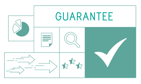 Illustration of quality product warranty assurance Reklamní fotografie - 80122805