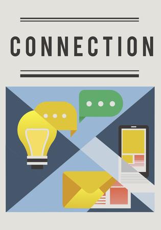 ソーシャル メディアは、オンライン コミュニティの接続です。 写真素材