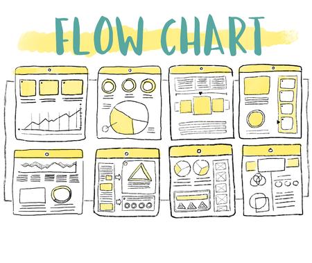 Flow chart concept 版權商用圖片