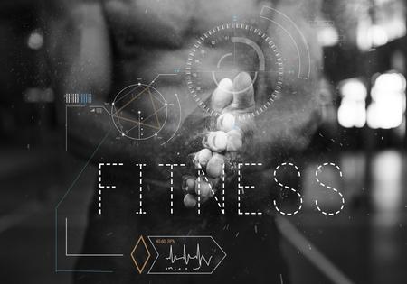 Fitness sano allenamento esercizio di MMA ciclo di polso