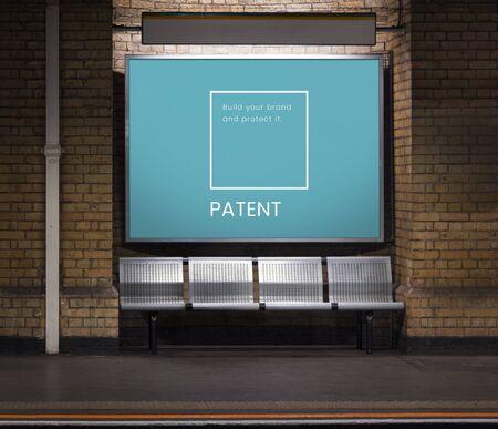 Illustration of identity branding business trademark on subway