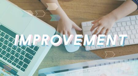 Improvement Progress Growth Efficiency Word Stock Photo - 80176115