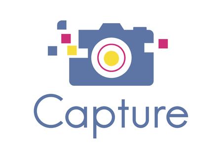 カメラはメモリにキャプチャするための装置です。 写真素材