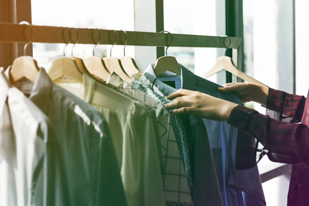 Fashion Design Clothing Rack Concept Zdjęcie Seryjne