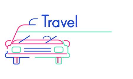 Illustration of automotive car rental transportation Stock Illustration - 80118687