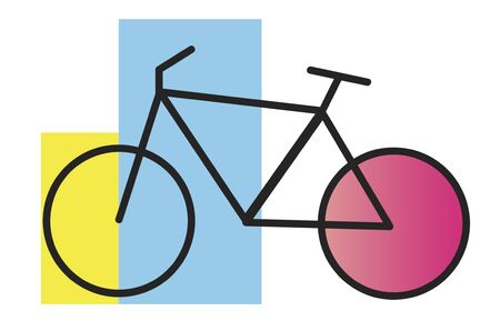 pastime: Bike Graphic Icon on White Background Stock Photo