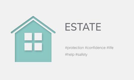 Couverture d'assurance habitation Propriété résidentielle Banque d'images - 80118728
