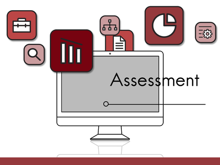 assess: Assessment Strategy Evaluation Prioritize Icons