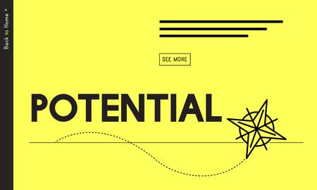 Potentieel Mogelijkheid Vermogen Capaciteit Succes Stockfoto