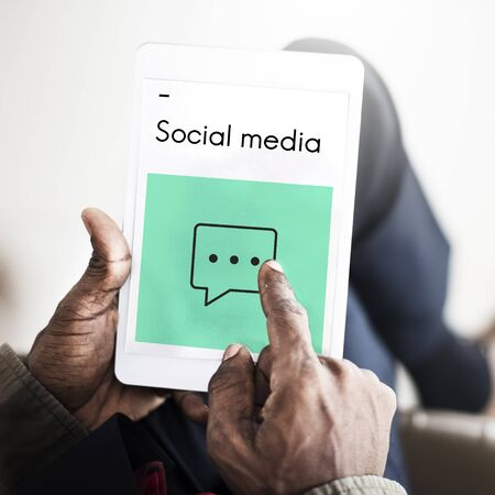 pastime: Social Media Connection Online Stock Photo