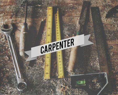 Carpenter Tools Equipment Craftsmanship Skills Stock Photo