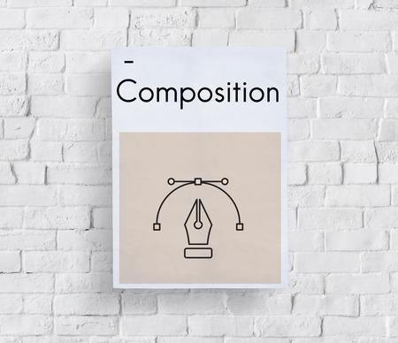 simulations: Creative Design Content Pen Icon Graphic