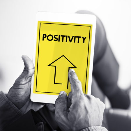 Make It Happen Positivity Attitude Possible Graphic Words Фото со стока