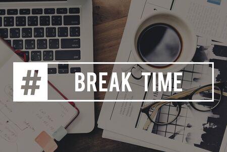 Break Time Pause Relaxation Relief Rest Banco de Imagens