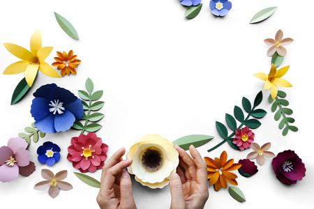 花植物の花自然のデザイン 写真素材