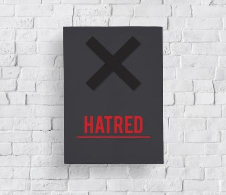 La haine Rage Animosity Negative Hate Speech Banque d'images - 80232857