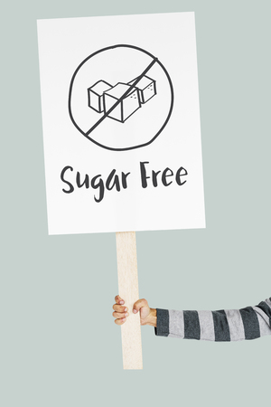 sugar cube: Sugar Free Healthy Lifestyle Concept Stock Photo