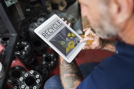 Behoud Recycle Ecologisch Milieu Illustratie Concept Stockfoto