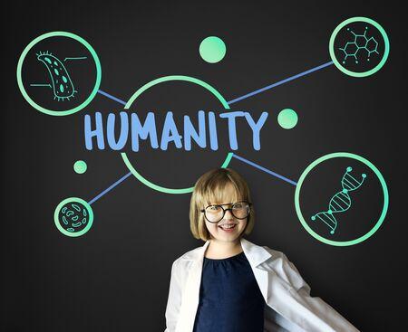 pretending: Science DNA Research Development Human Stock Photo