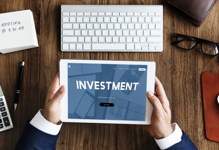 website words: Investment Money Profit Business Word Stock Photo