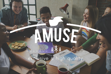Amuse overlay word young people