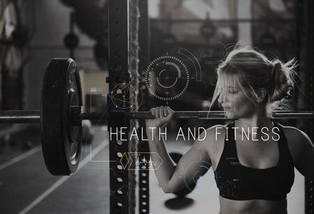 Wellness Health Lifestyle Workout Grafisch Word