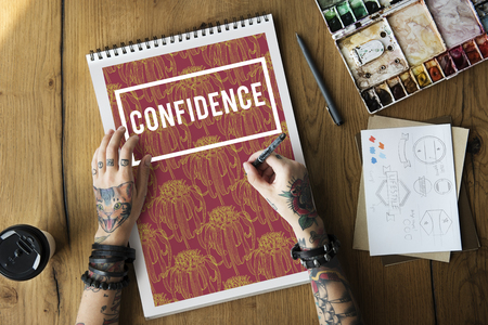 Person with confidence concept
