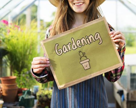 Natural Garden Plants Gardening Illustration Stock Photo