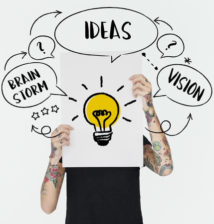 inspiring: Fresh Ideas Creative Innovation Light bulb