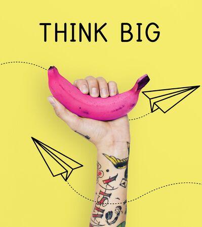 Inspire Think Big Creativity Concept