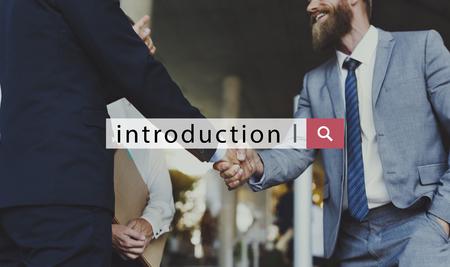 Inleiding Opening Toevoeging Vestiging Woord Stockfoto