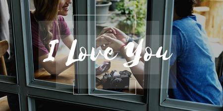데이트 커플 사랑하는 함께 단어 스톡 콘텐츠 - 80228673