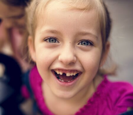 Little Girl Smiling Happiness Portrait