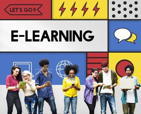 E-learning Education Internet Study Concept Reklamní fotografie