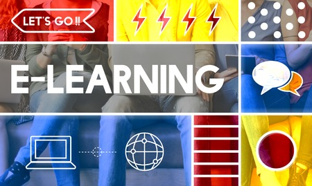 mobilephone: E-learning Education Internet Study Concept Stock Photo